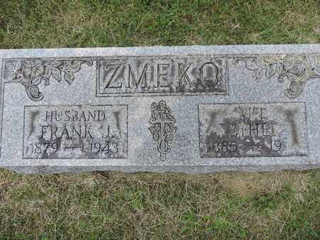 ZMEKO, ETHEL - Franklin County, Ohio | ETHEL ZMEKO - Ohio Gravestone Photos