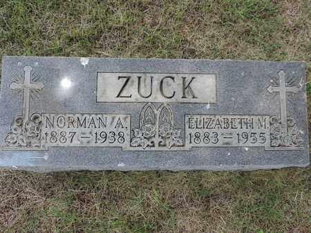 ZUCK, ELIZABETH M. - Franklin County, Ohio | ELIZABETH M. ZUCK - Ohio Gravestone Photos