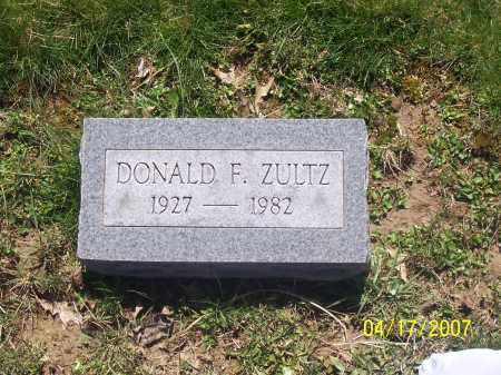 ZULTZ, DONALD F - Franklin County, Ohio | DONALD F ZULTZ - Ohio Gravestone Photos