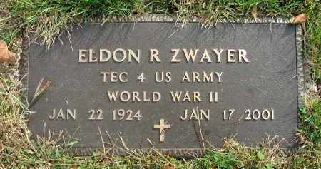 ZWAYER, ELDON R. - Franklin County, Ohio | ELDON R. ZWAYER - Ohio Gravestone Photos