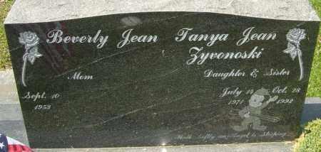 ZYVONOSKI, TANYA JEAN - Franklin County, Ohio | TANYA JEAN ZYVONOSKI - Ohio Gravestone Photos