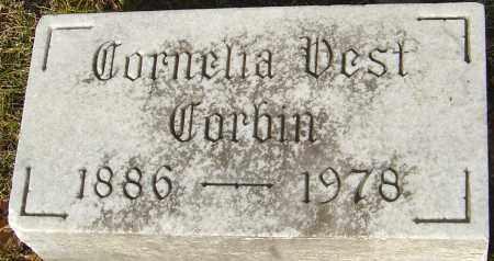 VEST CORBIN, CORNELIA - Franklin County, Ohio | CORNELIA VEST CORBIN - Ohio Gravestone Photos