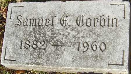CORBIN, SAMUEL E - Franklin County, Ohio | SAMUEL E CORBIN - Ohio Gravestone Photos