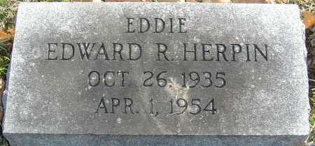 HERPIN, EDWARD R - Franklin County, Ohio | EDWARD R HERPIN - Ohio Gravestone Photos