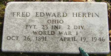 HERPIN, FRED EDWARD - Franklin County, Ohio | FRED EDWARD HERPIN - Ohio Gravestone Photos