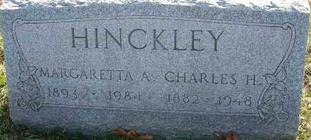 HINCKLEY, CHARLES - Franklin County, Ohio | CHARLES HINCKLEY - Ohio Gravestone Photos