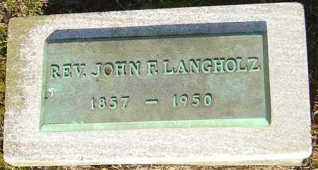 LANGHOLZ, JOHN F - Franklin County, Ohio | JOHN F LANGHOLZ - Ohio Gravestone Photos