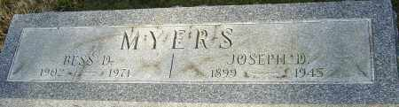 MYERS, JOSEPH - Franklin County, Ohio | JOSEPH MYERS - Ohio Gravestone Photos