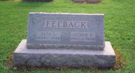 POTTER FEEBACK, ALTA LETITIA - Fulton County, Ohio | ALTA LETITIA POTTER FEEBACK - Ohio Gravestone Photos