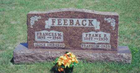 FEEBACK, FRANCES M. - Fulton County, Ohio | FRANCES M. FEEBACK - Ohio Gravestone Photos