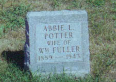 POTTER FULLER, ABBIE LOVINA - Fulton County, Ohio | ABBIE LOVINA POTTER FULLER - Ohio Gravestone Photos