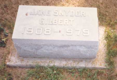SNYDER GILBERT, JANE - Fulton County, Ohio | JANE SNYDER GILBERT - Ohio Gravestone Photos