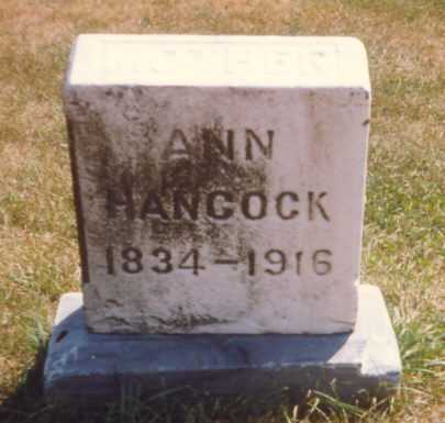 HANCOCK, ANN - Fulton County, Ohio | ANN HANCOCK - Ohio Gravestone Photos