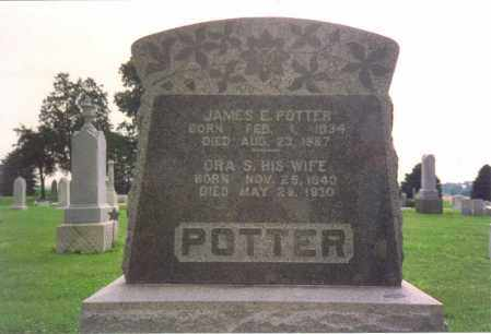 POTTER, JAMES EDGAR - Fulton County, Ohio | JAMES EDGAR POTTER - Ohio Gravestone Photos
