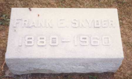SNYDER, FRANK E. - Fulton County, Ohio | FRANK E. SNYDER - Ohio Gravestone Photos