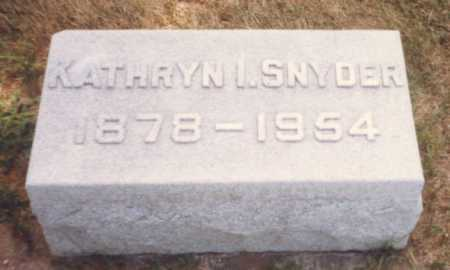 SNYDER, KATHRYN I. - Fulton County, Ohio | KATHRYN I. SNYDER - Ohio Gravestone Photos