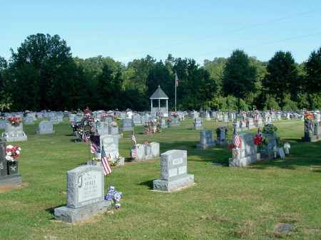 GRAVEL HILL CEMETERY OVERVIEW, NEW SECTION - Gallia County, Ohio | NEW SECTION GRAVEL HILL CEMETERY OVERVIEW - Ohio Gravestone Photos