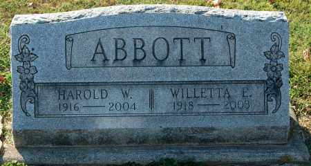 ABBOTT, HAROLD W. - Gallia County, Ohio | HAROLD W. ABBOTT - Ohio Gravestone Photos