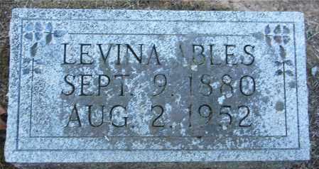 ABLES, LEVINA - Gallia County, Ohio | LEVINA ABLES - Ohio Gravestone Photos