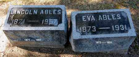 ABLES, LINCOLN - Gallia County, Ohio | LINCOLN ABLES - Ohio Gravestone Photos