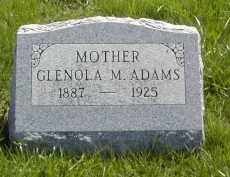 ADAMS, GLENOLA M. - Gallia County, Ohio | GLENOLA M. ADAMS - Ohio Gravestone Photos
