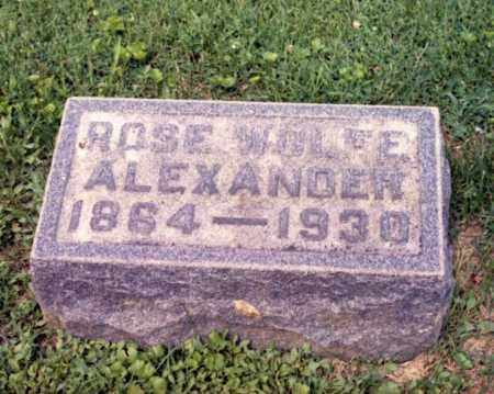 WOLFE ALEXANDER, ROSE - Gallia County, Ohio | ROSE WOLFE ALEXANDER - Ohio Gravestone Photos