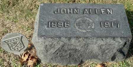 ALLEN, JOHN - Gallia County, Ohio | JOHN ALLEN - Ohio Gravestone Photos