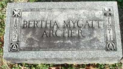 MYGATT ARCHER, BERTHA - Gallia County, Ohio | BERTHA MYGATT ARCHER - Ohio Gravestone Photos