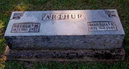 ARTHUR, GEORGE W - Gallia County, Ohio | GEORGE W ARTHUR - Ohio Gravestone Photos