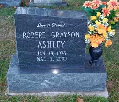 ASHLEY, ROBERT GRAYSON - FRONT VIEW - Gallia County, Ohio | ROBERT GRAYSON - FRONT VIEW ASHLEY - Ohio Gravestone Photos