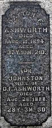 JOHNSTON ASHWORTH, IDA  (CLOSE-UP) - Gallia County, Ohio | IDA  (CLOSE-UP) JOHNSTON ASHWORTH - Ohio Gravestone Photos