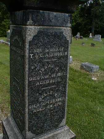 ASHWORTH, ISAAC D. - Gallia County, Ohio | ISAAC D. ASHWORTH - Ohio Gravestone Photos