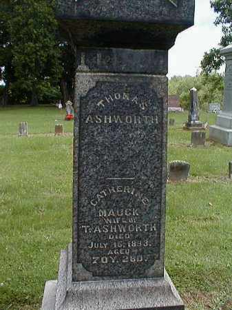 MAUCK ASHWORTH, CATHERINE - Gallia County, Ohio | CATHERINE MAUCK ASHWORTH - Ohio Gravestone Photos