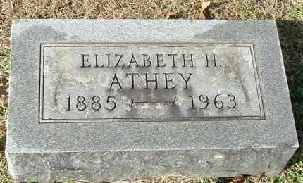 ATHEY, ELIZABETH H - Gallia County, Ohio | ELIZABETH H ATHEY - Ohio Gravestone Photos