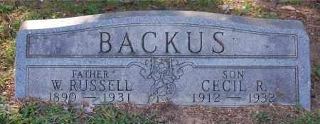 BACKUS, CECIL R - Gallia County, Ohio | CECIL R BACKUS - Ohio Gravestone Photos