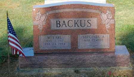 BACKUS, WILLIAM EARL - Gallia County, Ohio | WILLIAM EARL BACKUS - Ohio Gravestone Photos
