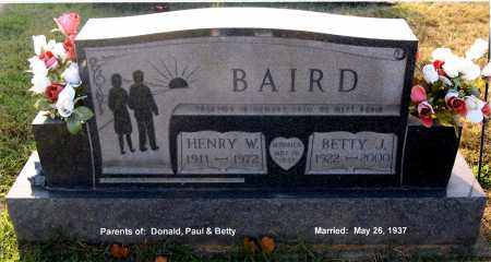 BAIRD, BETTY J - Gallia County, Ohio | BETTY J BAIRD - Ohio Gravestone Photos