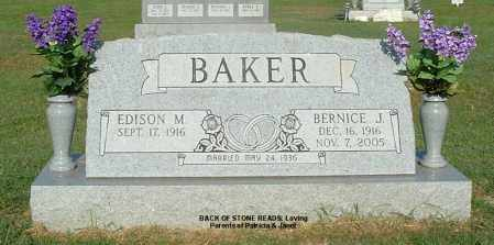 BAKER, EDISON M - Gallia County, Ohio | EDISON M BAKER - Ohio Gravestone Photos