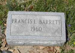 BARRETT, FRANCIS - Gallia County, Ohio | FRANCIS BARRETT - Ohio Gravestone Photos