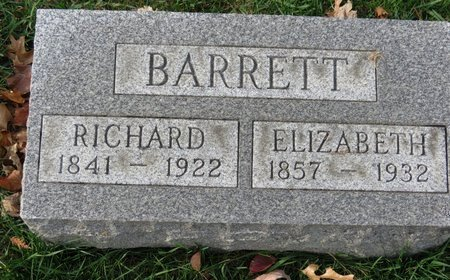 BARRETT, ELIZABETH - Gallia County, Ohio | ELIZABETH BARRETT - Ohio Gravestone Photos