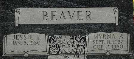 BEAVER, MYRNA A (CLOSE-UP) - Gallia County, Ohio | MYRNA A (CLOSE-UP) BEAVER - Ohio Gravestone Photos