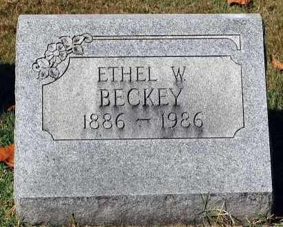 BECKEY, ETHEL W. - Gallia County, Ohio | ETHEL W. BECKEY - Ohio Gravestone Photos