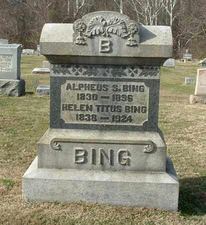 BING, ALPHEUS S - Gallia County, Ohio | ALPHEUS S BING - Ohio Gravestone Photos