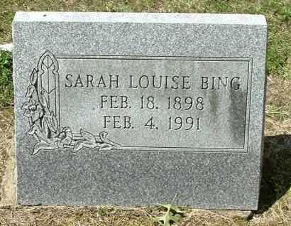 BING, SARAH LOUISE - Gallia County, Ohio | SARAH LOUISE BING - Ohio Gravestone Photos