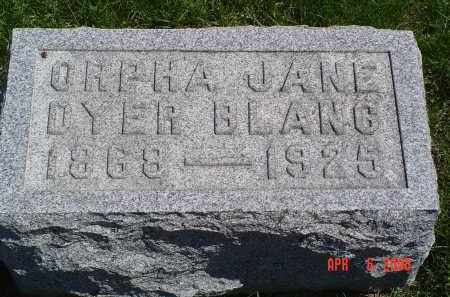 DYER BLANC, ORPHA - Gallia County, Ohio | ORPHA DYER BLANC - Ohio Gravestone Photos