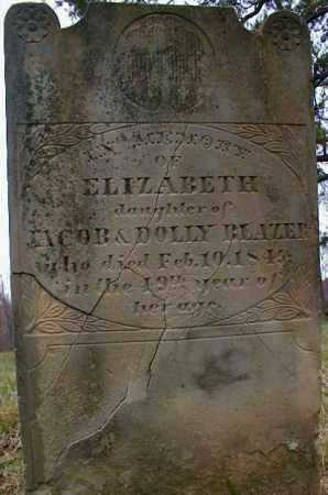 BLAZER, ELIZABETH - Gallia County, Ohio | ELIZABETH BLAZER - Ohio Gravestone Photos
