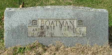 BOATMAN, JENNIE C - Gallia County, Ohio | JENNIE C BOATMAN - Ohio Gravestone Photos