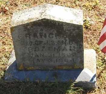 BOATMAN, FRANCES - Gallia County, Ohio   FRANCES BOATMAN - Ohio Gravestone Photos