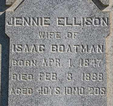 "ELLISON BOATMAN, JENNIE ""CLOSE-UP"" - Gallia County, Ohio 