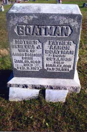 BOATMAN, AARON - Gallia County, Ohio | AARON BOATMAN - Ohio Gravestone Photos
